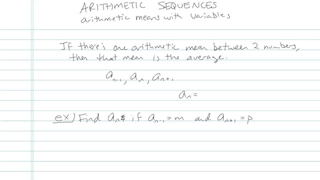 Arithmetic Sequences - Problem 5