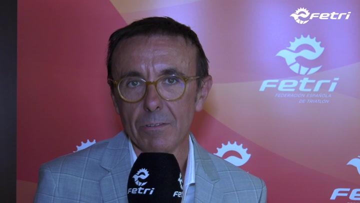 José Hidalgo, reelegido presidente de la Federación Española de Triatlón