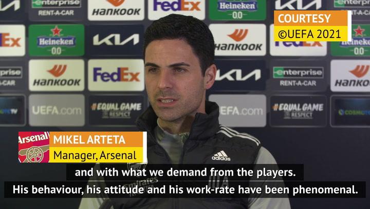 Arteta happy with Odegaard's 'phenomenal' start at Arsenal