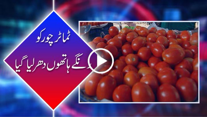 Tomato thief caught red handed in Jhang