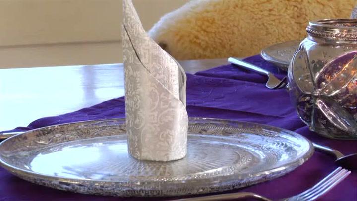 Interiør: Hvordan dekke et lilla festbord til jul