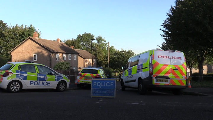 Police at scene after four people found dead in Derbyshire house