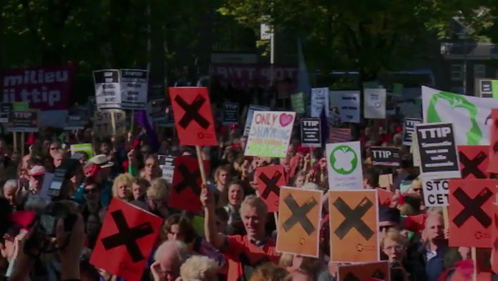 Video: Anti-TTIP demonstratie in Amsterdam