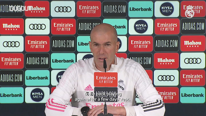 Zinedine Zidane: 'We want to continue with what we've been doing'
