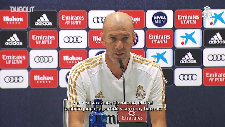 Zidane: 'Solo pensamos en ganar al Villarreal'