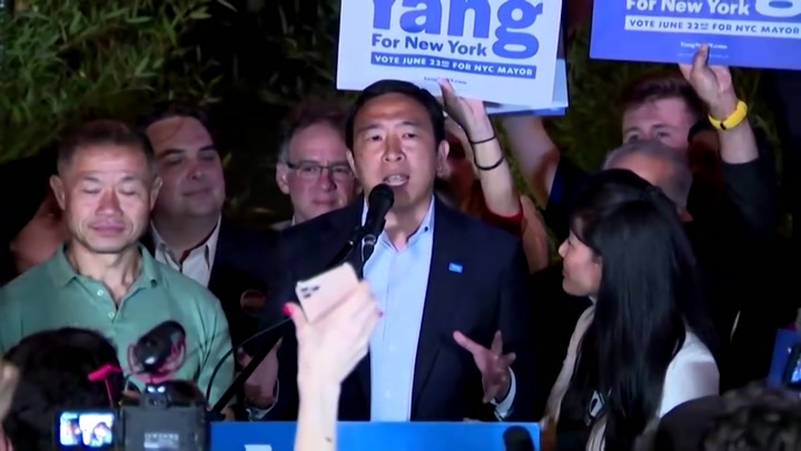 NYC mayoral candidate Andrew Yang concedes