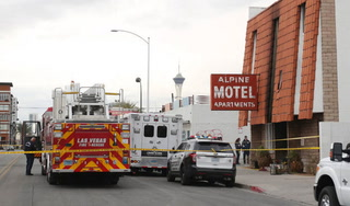 Las Vegas Fire and Rescue calls from Alpine Motel Apartments fire