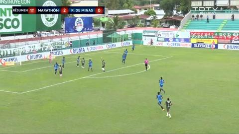 Edwin Solano anota su doblete y es el 2-0 del Marathón ante Real de Minas