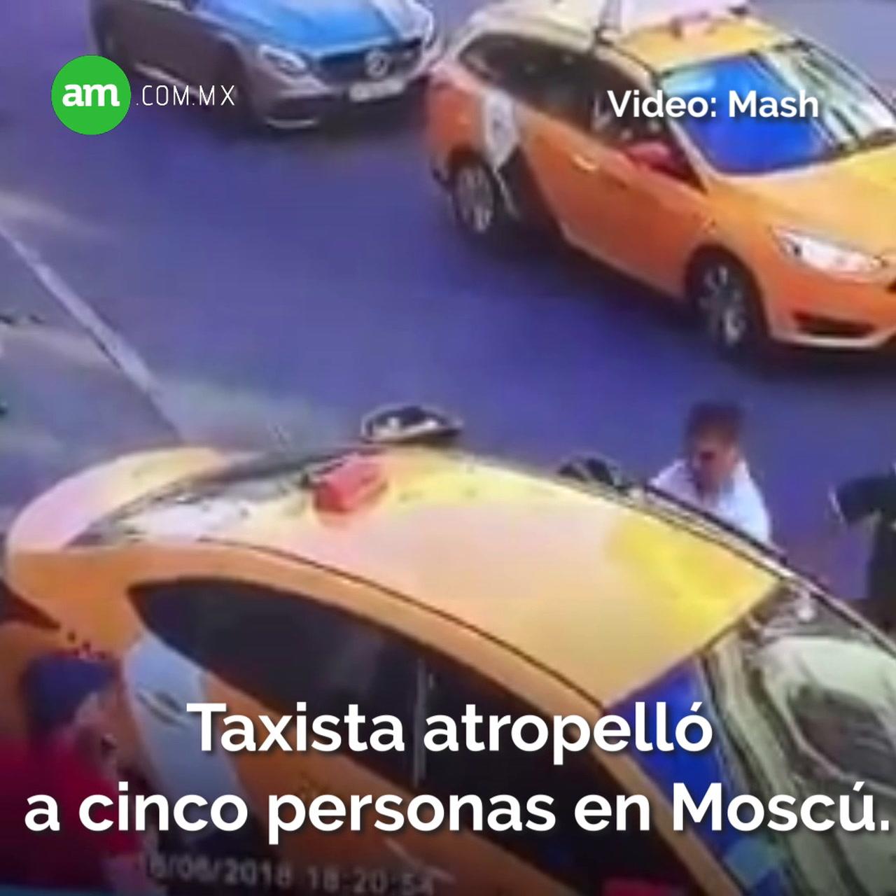 Video: Momento exacto cuando taxista atropelló a mexicanas en Moscú