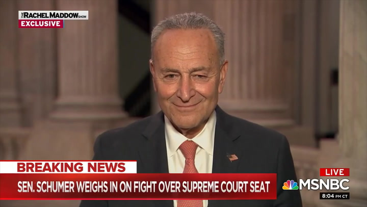 Schumer: 'We Will Use Every Tool' to Delay Ginsburg Replacement