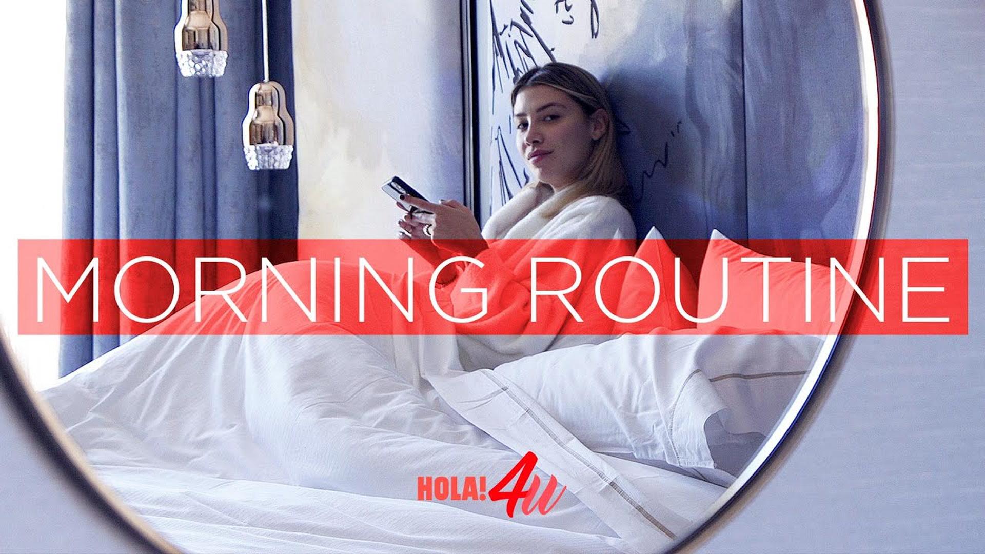 Así es mi 'morning routine'