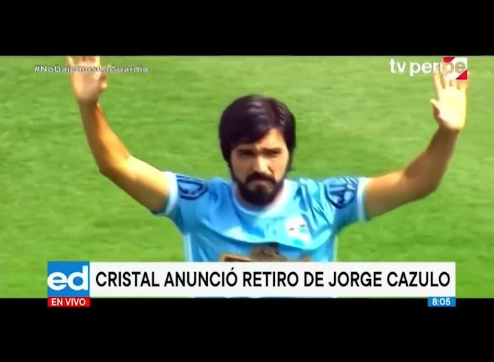 Sporting Cristal confirma el retiro de Jorge Cazulo con emotiva publicación