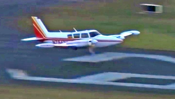 Landingshjulene sviktet - men piloten vet råd