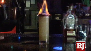 Trial by Fire cocktail at the Golden Tiki in Las Vegas – VIDEO