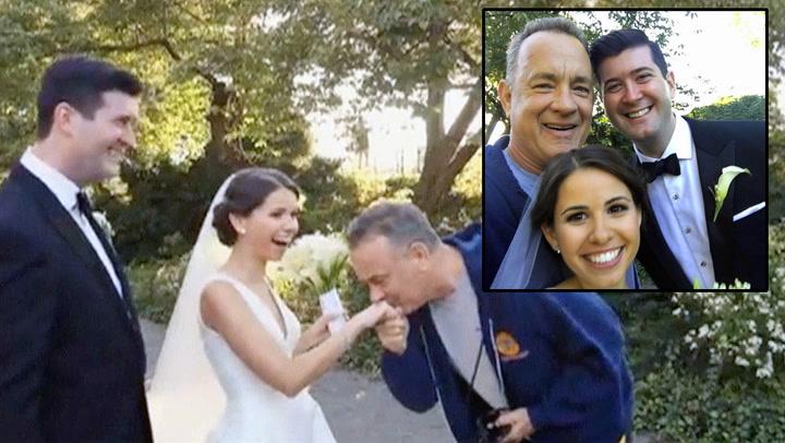 Tom Hanks snek seg med på brudebilde