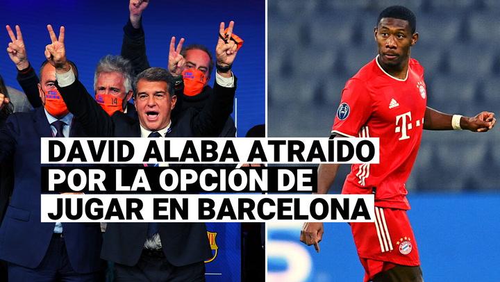 David Alaba atraído por la opción de jugar en Barcelona con la llegada de Laporta a la presidencia