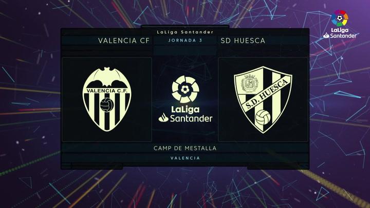 LaLiga Santander (J.3): Valencia 1-1 Huesca