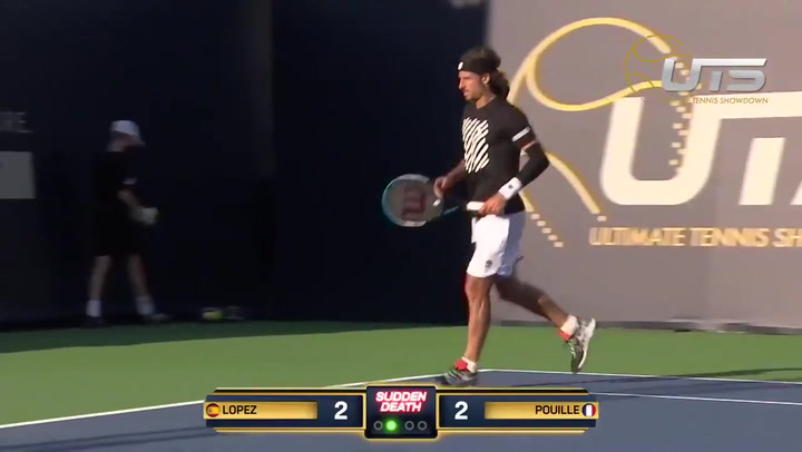 Feliciano ganó a Lucas Pouille en su puesta de largo en el torneo Ultimate Showdown Tennis