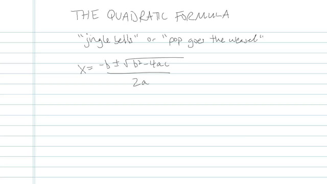 The Quadratic Formula - Problem 11