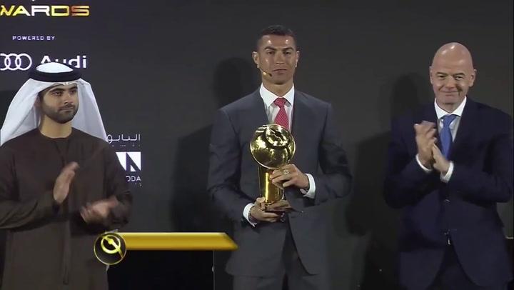 Cristiano Ronaldo, premio al mejor jugador del Siglo XXI en los Globe Soccer Awards