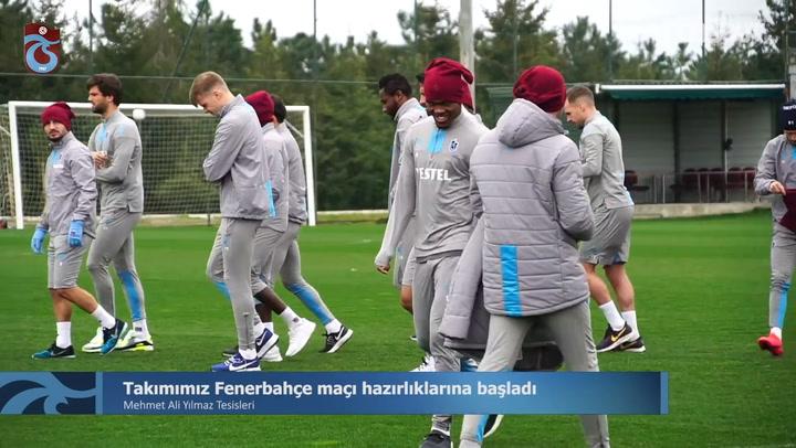 Trabzonspor'un Fenerbahçe Maçı Hazırlıkları Devam Ediyor