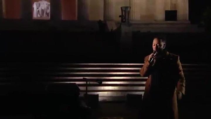 John Legend performs 'Feeling Good' on the inauguration of Joe Biden and Kamala Harris