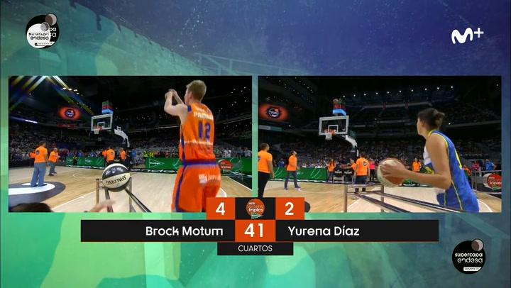 Así fueron las series de Brock Motum, campeón del Concurso de Triples