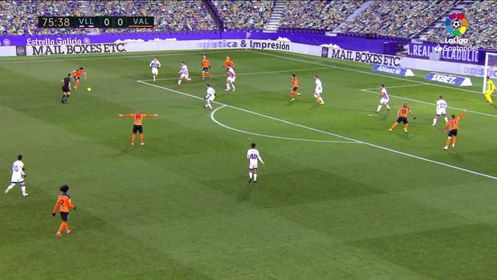 Gol de Carlos Soler (0-1) en el Valladolid 0-1 Valencia