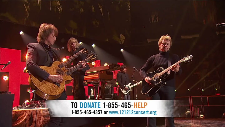 """Bon Jovi Performs """"Wanted Dead Or Alive"""" - 12-12-12 The Concert for Sandy Relief"""