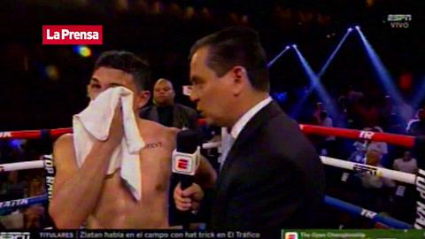 La reacción de Teófimo López tras vencer al japonés Nakati