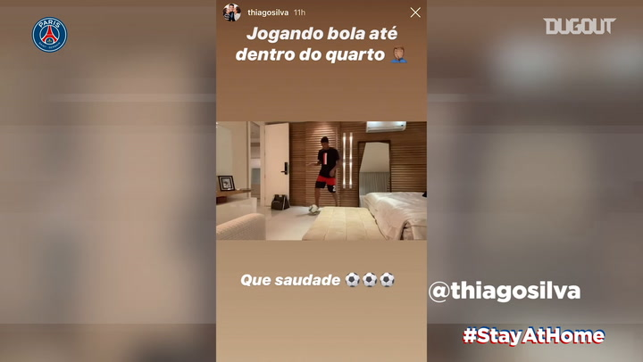 Stay at home: Stories of the day with Thiago Silva and Sarabia