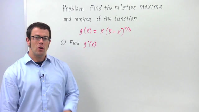 The First Derivative Test for Relative Maximum and Minimum - Problem 2