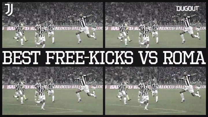 Juventus' best free-kicks against Roma