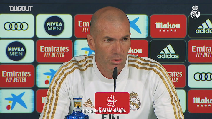 Zidane: 'We have to be focused and give it 100 per cent on the pitch'