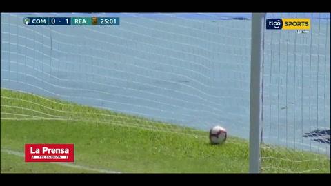 Video: Comunicaciones anota el 1-1 ante Real España tras error del portero Perelló (Copa Premier Centroamericana)