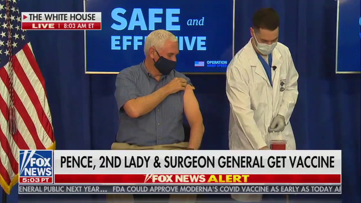 Vice President Pence receives COVID-19 vaccine live on television - Axios