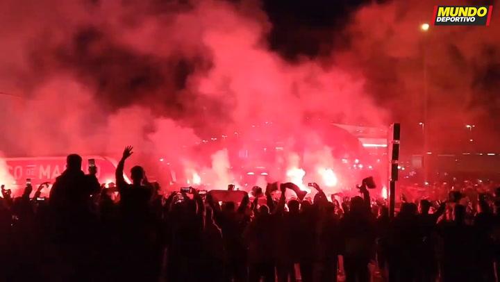 ¡Échale huevos, Atleti, échale....! Los colchoneros calientan el duelo con el Liverpool