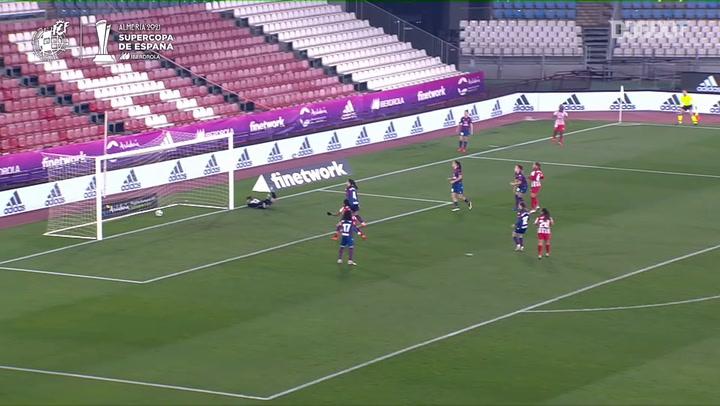 Los tres goles del Atlético ante el Levante en la final de la Supercopa Femenina