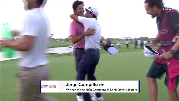 Jorge Campillo gana en el quinto hoyo del playoff el Qatar Masters