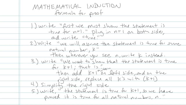 Mathematical Induction - Problem 6