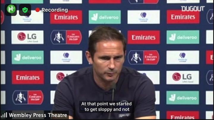 Lampard: 'We didn't play well enough'