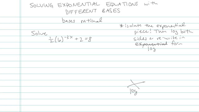 Solving Exponential Equations with the Different Bases - Problem 6