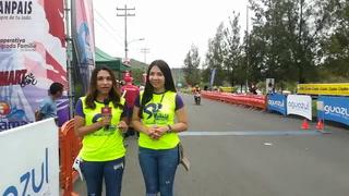Astrid Zambrano y Yinely Suazo describen la llegada de ciclistas