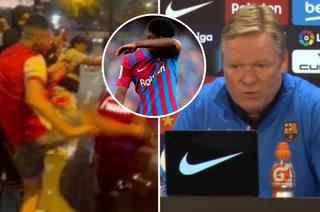Koeman contra los aficionados del Barcelona que lo atacaron y anuncia problemas de Ansu Fati