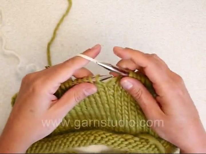 Hvordan strikke enden inn ved fargebytte