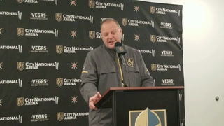 Golden Knights coach Gerard Gallant on the homestand