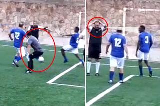 ¡Ay Pedro Atala! Se asusta al ver a Maynor Figueroa y falla clara acción de gol