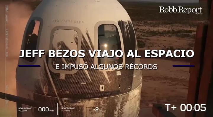 Jeff Bezos viajó al espacio con Blue Origin
