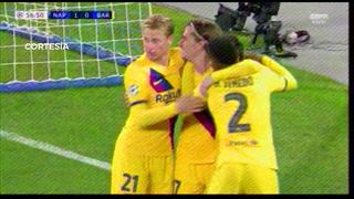 El gol de Griezmann que empató el Napoli - Barcelona