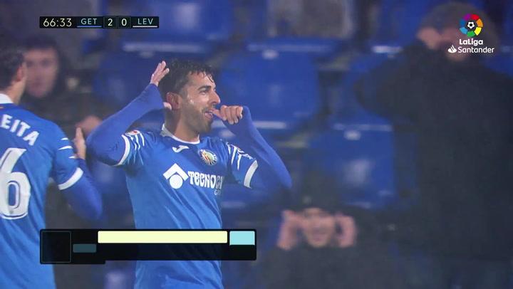 Gol de Ángel (3-0) en el Getafe 4-0 Levante